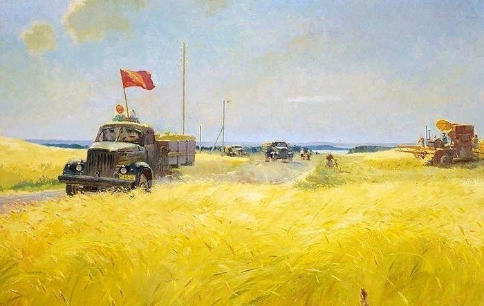В. А. Каррус. «Хлеб государству». 1953