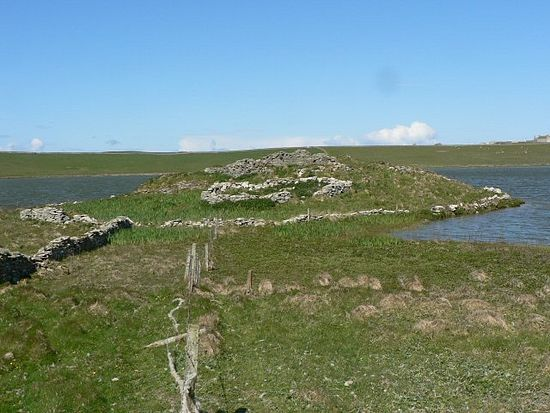 Ruins of St. Triduana's Chapel on Papa Westray, the Orkneys