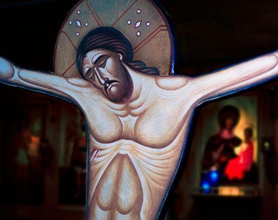 Photo: http://wonder.oca.org/wp-content/uploads/2011/11/crucifixion-icon.jpg