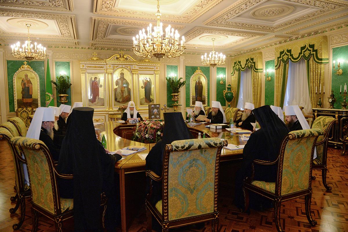 В Москве прошло заседание Священного Синода Русской Православной Церкви
