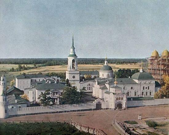 The Svyato-Nikolsky Monastery 1909 by S. Prokudin-Gorsky.