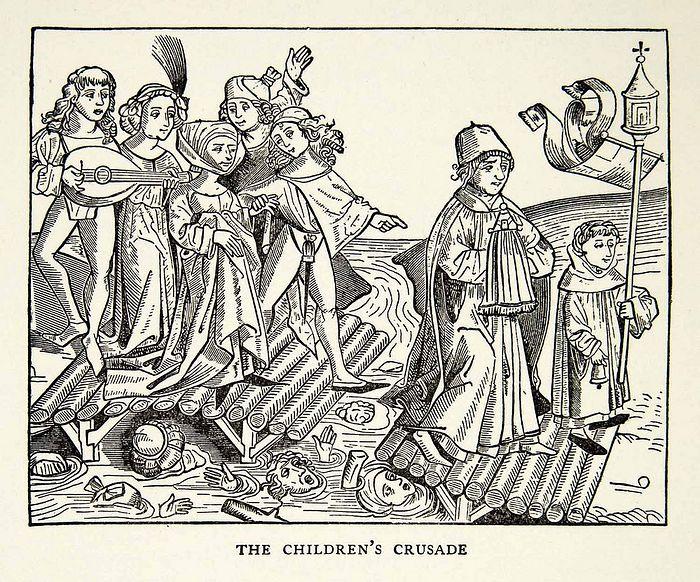 Детский крестовый поход. Открытка, 1939 г.