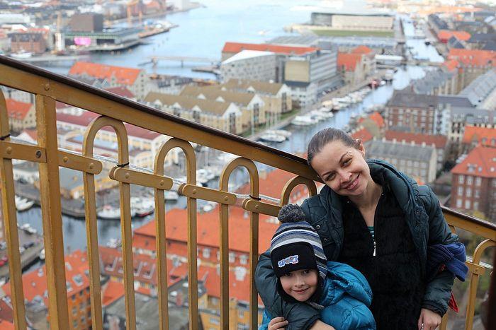 Ксения Симонова с сыном Димой