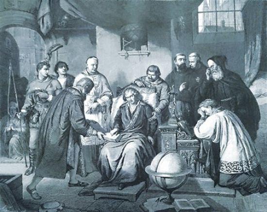 Последние часы жизни Коперника. Гравюра по картине А. Лессера. 1878