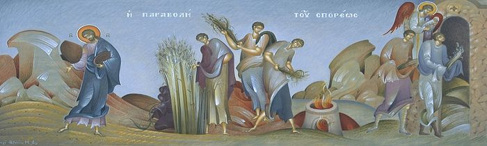 The Parable of the Sower (Icon by Antonios Fikos, http://www.omhksea.org/2012/10/the-parable-of-the-sower/).