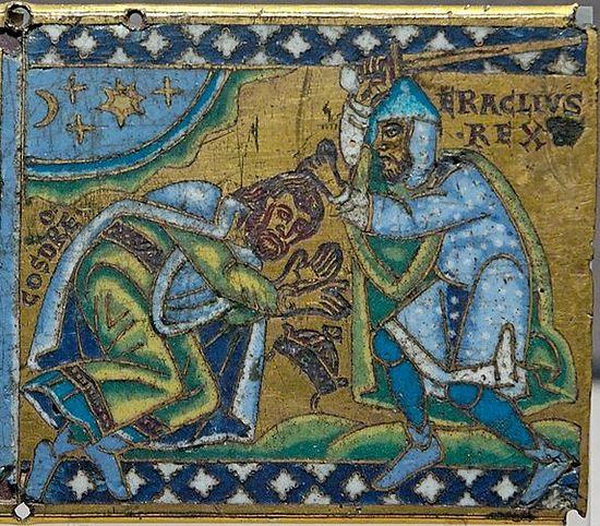 Император Ираклий побеждает Хосрова II. Париж, Лувр