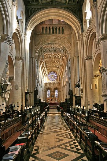 Inside Christ Church Cathedral, Oxford