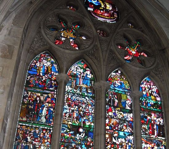 St. Frideswide Window with her Life scenes at Christ Church Cathedral, Oxford (photo by Irina Lapa)