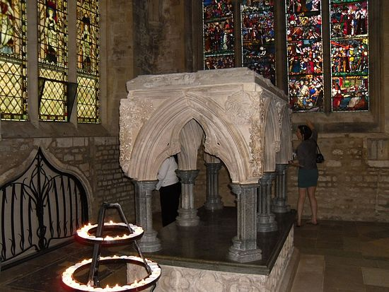 Restored shrine of St. Frideswide at Christ Church Cathedral, Oxford (photo by Irina Lapa)