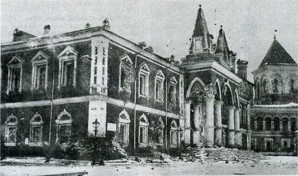 Москва, Кремль, Чудов монастырь. Фото архитектора П.П.Покрышкина, сделанное 10 ноября 1917г.