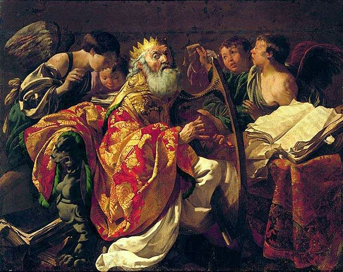 Тербрюгген Хендрик. Царь Давид, играющий на арфе. 1628