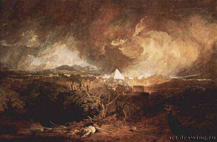 У. Тернер. Пятая казнь египетская (чума). 1800