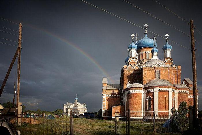 The church in Korobeinikovo