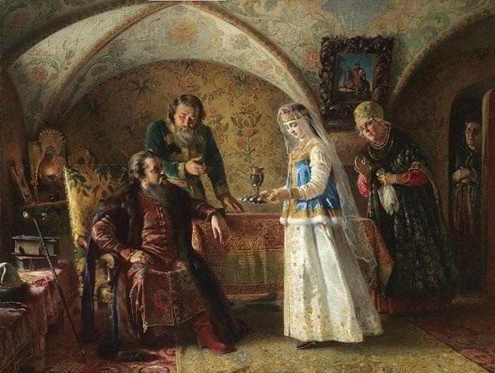 К. Маковский. Сцена из боярского быта XVII в.