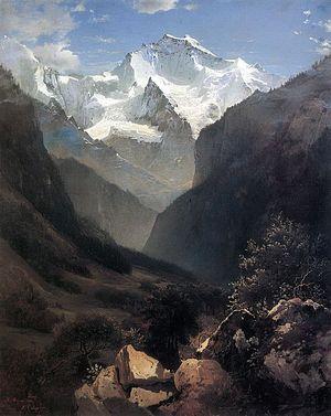 А.К.Саврасов. Вид в Швейцарских Альпах (Гора Малый Рухен). 1862.