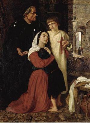 Фрагмент картины «Крестовый поход детей в XIII в.» кисти Дж. М. Бойс