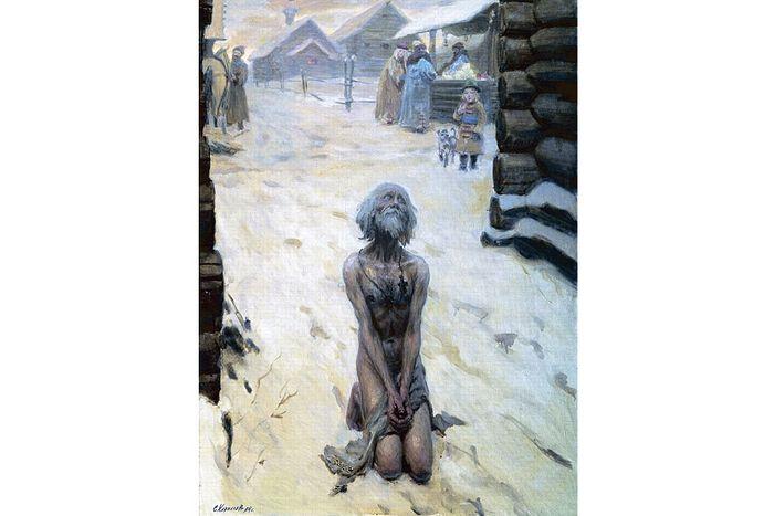 Василий Блаженный, картина Сергея Кириллова