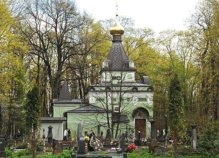 Часовня Ксении Блаженной на Смоленском кладбище. Санкт-Петербург