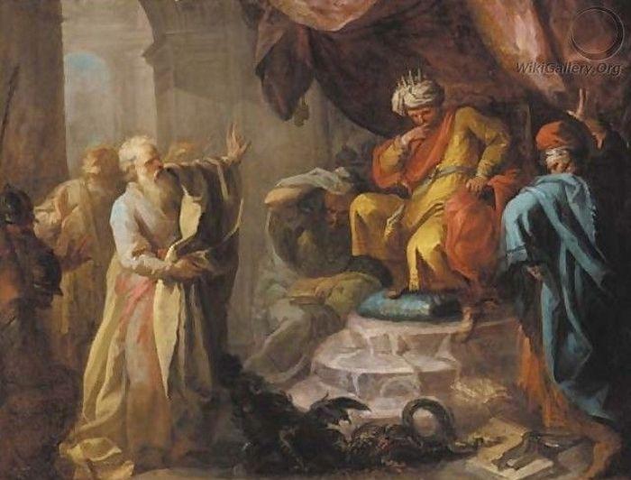 П.Барделлино. Моисей и Аарон перед фараоном.