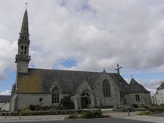 Church of St. Cadfan in Poullan-sur-Mer, Brittany