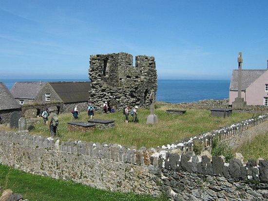 Ruins of St. Mary's Monastery on Bardsey(photo from Britannica.com)