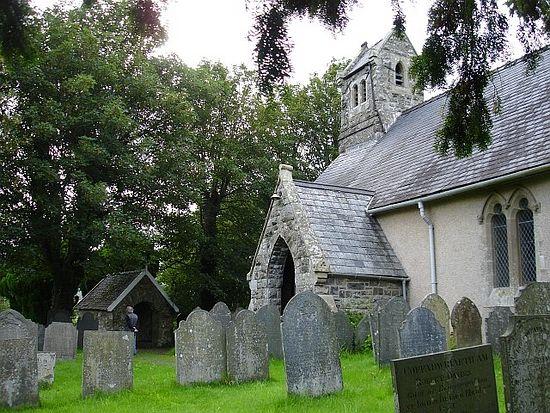 St. Cadfan's Church in Llangadfan, Powys
