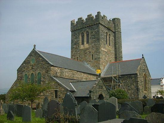 St. Cadfan's Church in Tywyn, Gwynedd