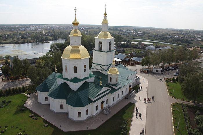 Казанский храм, который будет вознесён на небо. Фото: Из архива монастыря