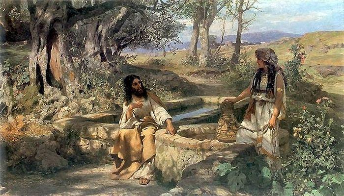 Христос и самаритянка. Г. И. Семирадский. 1890 г. Холст, масло. Львовская государственная картинная галерея