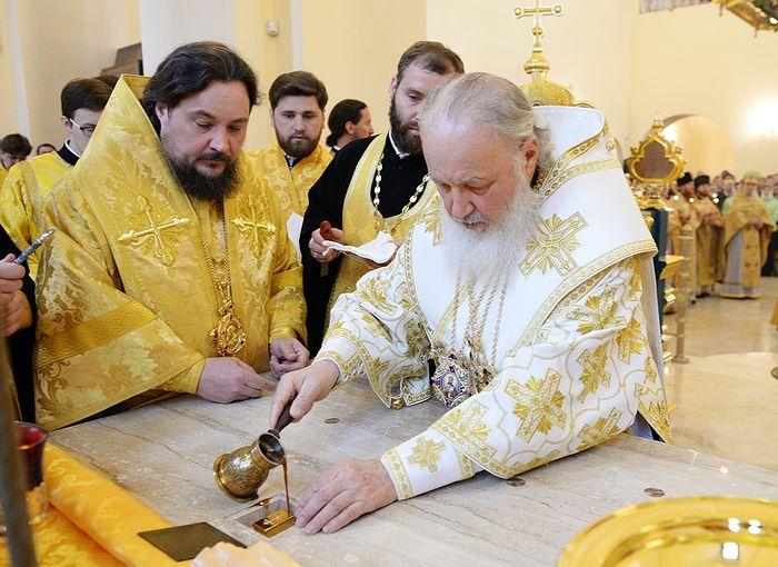 Великое освящение храма Александра Невского при МГИМО