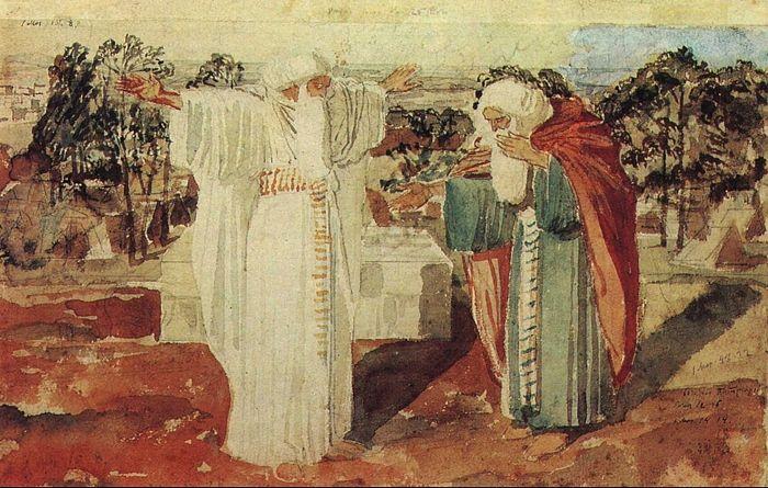 Иванов А. А. Авраам просит у Бога знамения. Кон. 1840-х — 1850-е годы