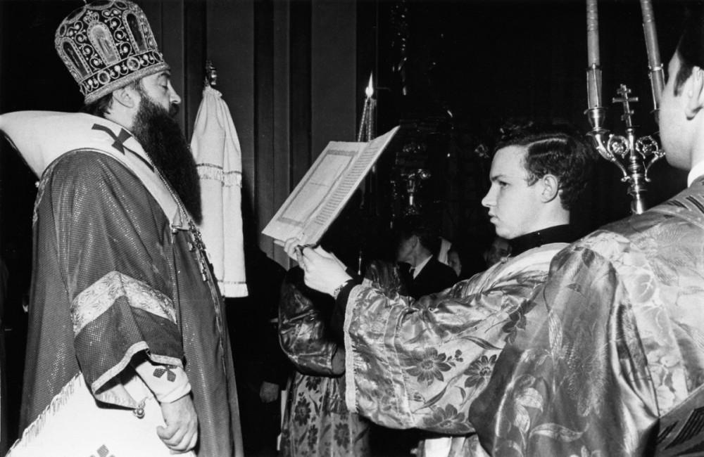 His Holiness Patriarch Kirill's 70th birthday.  The future Patriarch Kirill, subdeacon of Metropolitan Nikodim (Rotov) of Leningrad and Novgorod. 1960s.