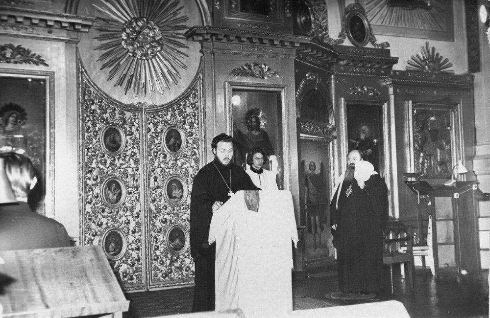 His Holiness Patriarch Kirill's 70th birthday.  Church of the Holy Apostle John the Theologian at the Leningrad Spiritual Academy. 1970s.