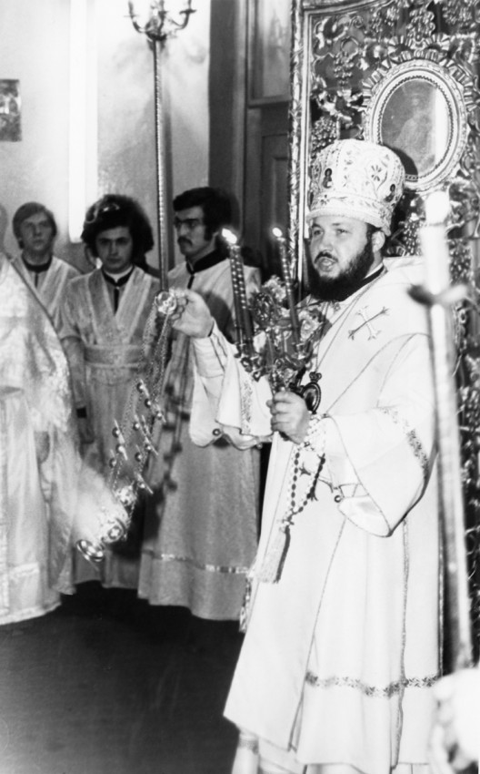His Holiness Patriarch Kirill's 70th birthday.  Pascha in the Church of the Holy Apostle John the Theologian at the Leningrad Spiritual Academy. 1970s.