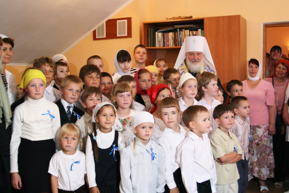 His Holiness Patriarch Kirill's 70th birthday.  Visit to an Orthodox Church in Kaliningrad. July 21, 2008.