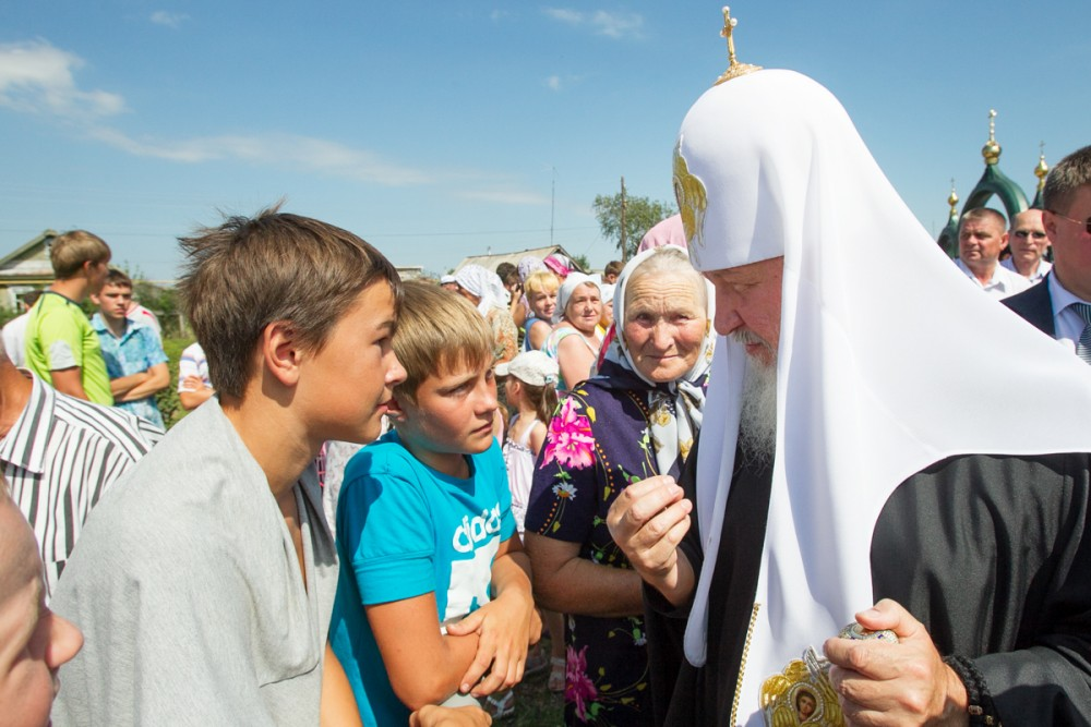 His Holiness Patriarch Kirill's 70th birthday.  Visit to Mordovia. July 22, 2011.