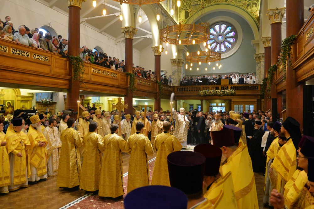 His Holiness Patriarch Kirill's 70th birthday.  Consecration of Dormition Cathedral in the Sourozh Diocese. London. October 16, 2016.