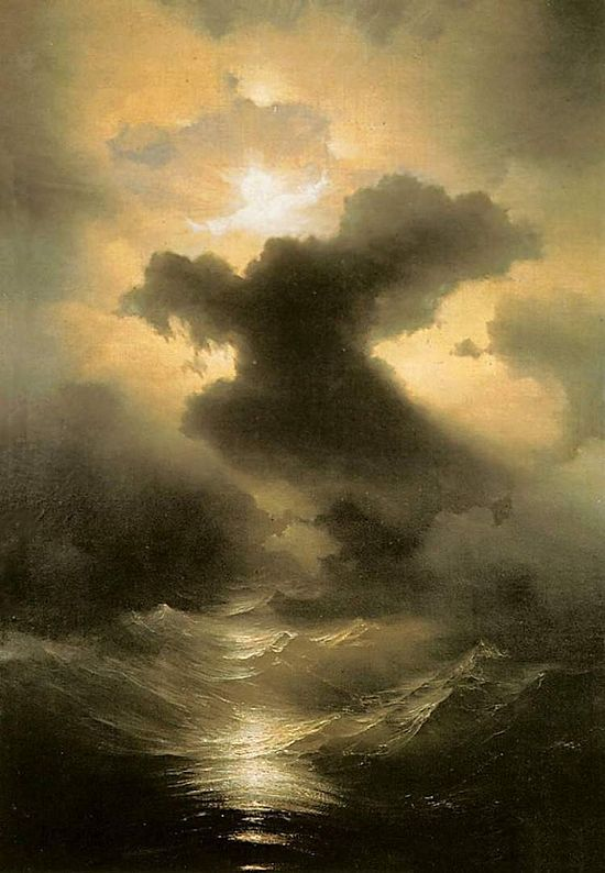 I. K. Aivazovsky. Chaos (Creation of the world). 1841, oil on paper 106х75cm, Museum of the Mekhitarist congregation. St. Lazar, Venice