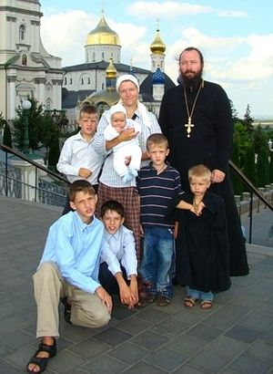 Archpriest Nikolai Zagorodniy with family