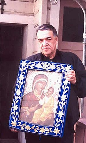 Jose Muñoz-Cortes with Montreal icon of the Holy Virgin