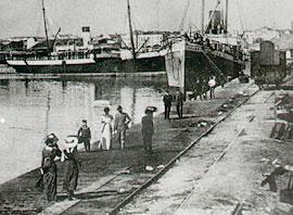 Бургас. Болгария. Пристань начала XX века.