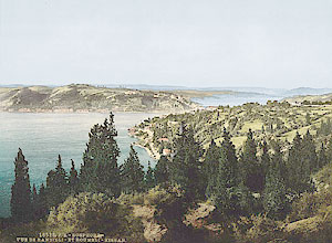 Вид на пролив Босфор. Открытка начала XX века.