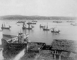 Вид на пролив Босфор. Фотография начала XX века.