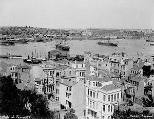 Вид на мыс Золотой Рог и Военный Арсенал. Фотография начала XX века.