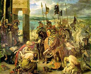 Эжен Делакруа. Вход крестоносцев в Константинополь 12 апреля 1204 г.