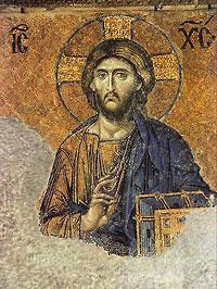 Господь Вседержитель. Фреска в храме святой Софии в Константинополе.
