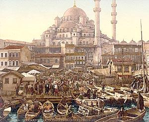 Константинополь. Мечеть Ени Ками и базар. Открытка конца XIX в.
