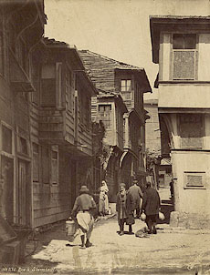 Улочки Константинополя. Фотография конца XIX в.