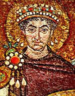 Святой император Юстиниан, строитель храма Святой Софии в Константинополе.