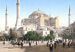 Константинополь. Храм Святой Софии. Открытка конца XIX века.